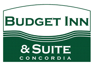 Budget Inn & Suite Logo - Experience comfortable, pet-friendly lodging at our newly remodeled motel in Concordia, Missouri.